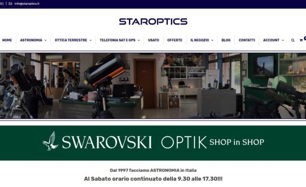 STAROPTICS – Sito e-commerce