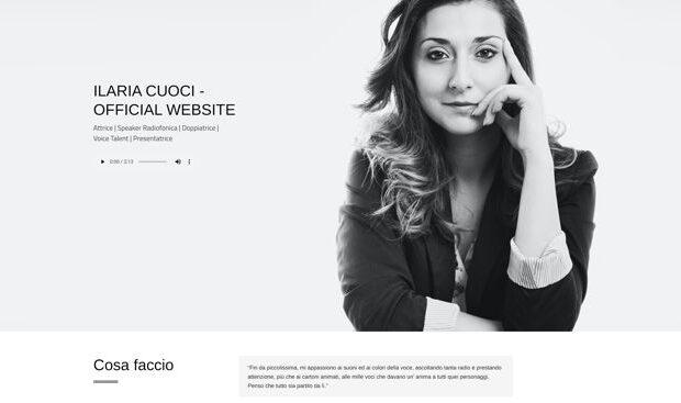 Sito di ILARIA CUOCI - Attrice | Speaker | Voice Talent